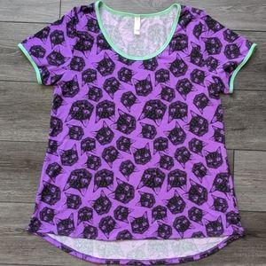 LulaRoe Black Cat Long Shirt